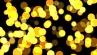 Golden Particles Bokeh Background