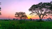 Lapso de tempo do pôr do sol