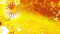Solmönster animationsbakgrund