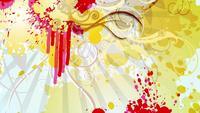 Boucle de fleur colorée abstraite