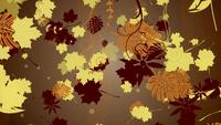 Abstract fall leaves background