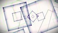 Abstrakt rörelse av fyrkantiga ramar