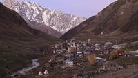 Village d'Ushguli à Svaneti, Géorgie.