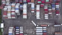 Shipping containers in terminal port