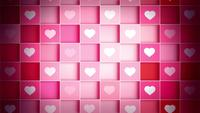 Schöne Schachtel mit flippenden rosa und weißen Herzen