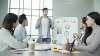 Gens d'affaires discutant des idées au bureau