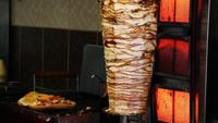 Chicken Doner Kebab Preparing For Sale