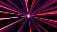 Abstract red and blue light rays radial background