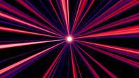 Radialer Hintergrund der abstrakten roten und blauen Lichtstrahlen