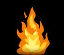 Animación 2D de fuego en bucle