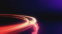 Brillante bola de luz haciendo zoom en el espacio