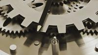 Abstract Industrial Clock Gears Detail