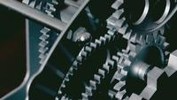 Abstract Industrial Clock Gears Close Up
