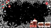 Een besneeuwde kerst geanimeerde frame