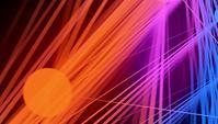 Bunt leuchtendes Streifen- und Kugelhintergrundvideo