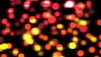 Red and Yellow Blurred Lights Bokeh Background