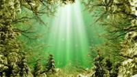 Tecknad stil Seaweed Ocean Loop