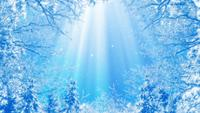 Abstract Fantasy Winter Background Loop