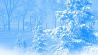 Abstrakte blaue Winterhintergrundschleife