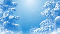 Lazo de fondo azul de ensueño de invierno