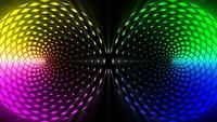 Gloeiende kleurrijke roterende abstracte cirkels