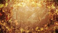 Lazo de fondo de marco de otoño