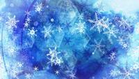 Fundo de flocos de neve caindo