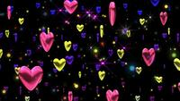 Hearts floating background