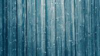 Houten planken en vallende sneeuw