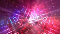 Bucle de fondo de patrones de estrellas puntiagudas abstracto colorido