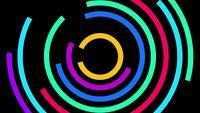 Technologie de cercle numérique néon