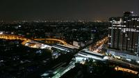 Time lapse night in Bangkok city