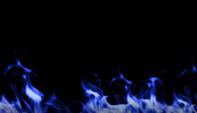 Mur de feu couleur bleu