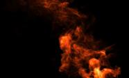 Orange Rauch auf schwarzem Hintergrund
