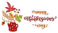 Animated calligraphy lettering text Happy Thanksgiving Day