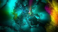 Bucle de fondo de arte colorido
