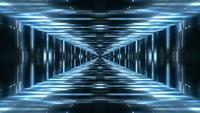 Bucle de fondo del túnel de luces