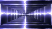 Glühende Energietunnelschleife