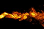 Feuer Nahaufnahme auf Hintergrund