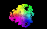 Rook kleurrijke exploderende