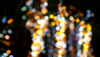 Blur yellow, bluen and white night lights