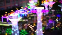 Colorful lantern blur light hearts