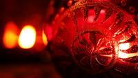 Kerzenlicht auf Glas