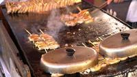 Gebakken kip teppanyaki
