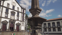 Slow motion of a fountain in Madeira, Portugal.