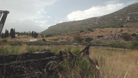 En bränd ned övergiven fiskebåt