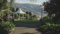 En bana i en vacker park, Madeira, Portugal.