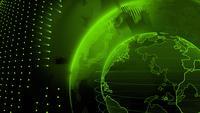 Grön värld kretsar i digital form.