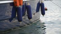 Détail d'un voilier bleu à Izmir, Old Foca