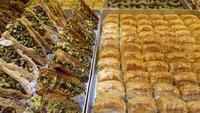 Pâtisseries turques traditionnelles connues sous le nom de Baklava